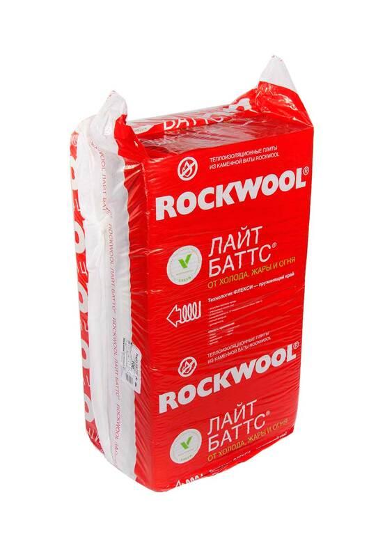 Каменная вата ROCKWOOL Лайт Баттс 50 мм (плита)