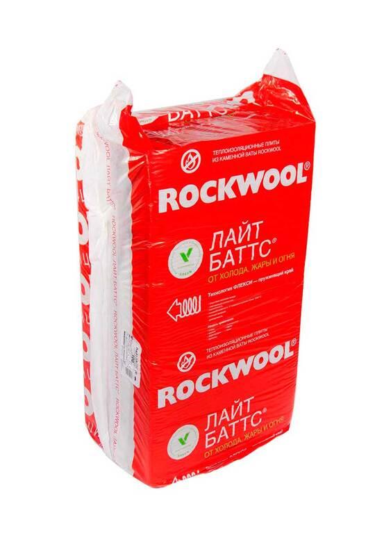Каменная вата ROCKWOOL Лайт Баттс 100 мм (плита)