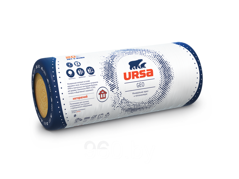 Маты теплоизоляционные URSA М11  2*10000*1200*50 (24м2)