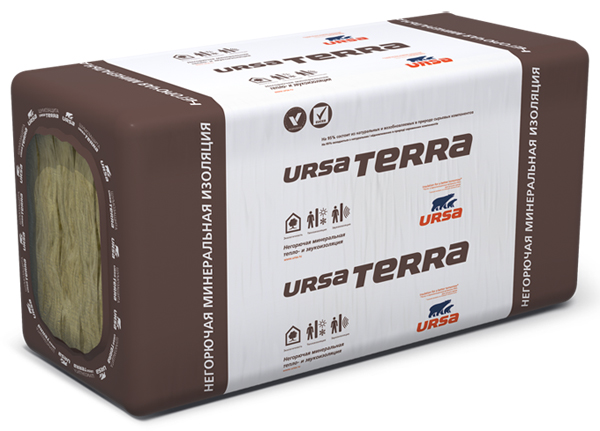 URSA Терра 34 PN PRO 1250*610*100 (3.81м2) (0,381м3)(36шт/под)